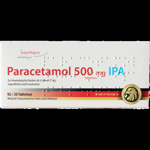 Verpackungsbild(Packshot) von PARACETAMOL 500 mg IPA Tabletten