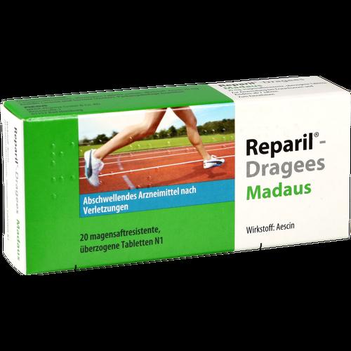Verpackungsbild(Packshot) von REPARIL-Dragees Madaus magensaftres.Tabletten