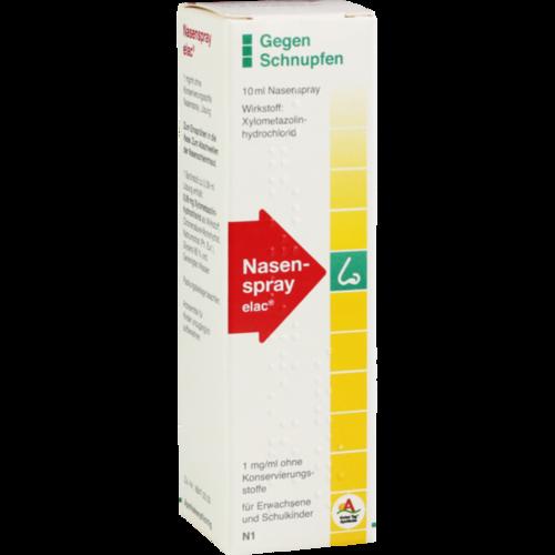 Verpackungsbild(Packshot) von NASENSPRAY elac 1 mg/ml ohne Konservierungsstoffe