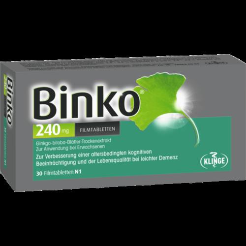 Verpackungsbild(Packshot) von BINKO 240 mg Filmtabletten