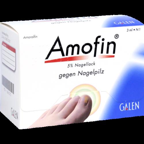 Verpackungsbild(Packshot) von AMOFIN 5% Nagellack