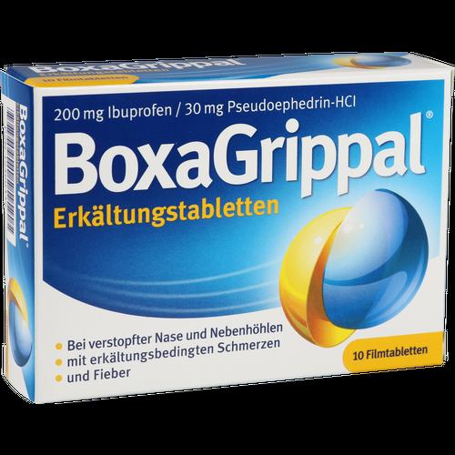 Verpackungsbild(Packshot) von BOXAGRIPPAL Erkältungstabletten 200 mg/30 mg FTA