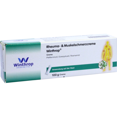 Verpackungsbild(Packshot) von RHEUMA- & Muskelschmerzcreme Winthrop