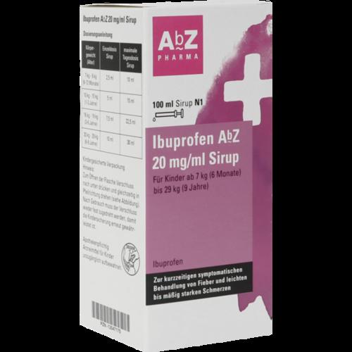 Verpackungsbild(Packshot) von IBUPROFEN AbZ 20 mg/ml Sirup