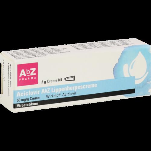 Verpackungsbild(Packshot) von ACICLOVIR AbZ Lippenherpescreme