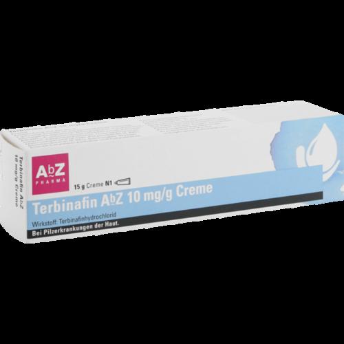 Verpackungsbild(Packshot) von TERBINAFIN AbZ 10 mg/g Creme