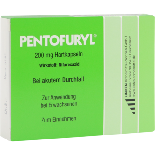 Verpackungsbild(Packshot) von PENTOFURYL 200 mg Hartkapseln