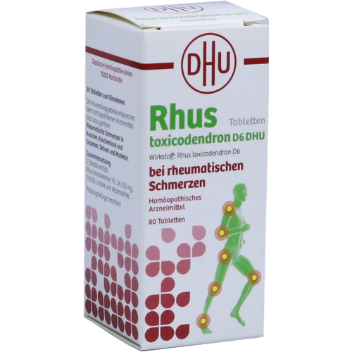 Verpackungsbild(Packshot) von RHUS TOXICODENDRON D 6 Tabl.bei rheumat.Schmerzen
