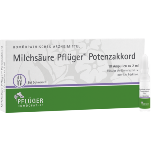 Verpackungsbild(Packshot) von MILCHSÄURE Pflüger Potenzakkord Inj.-Lsg.Amp.