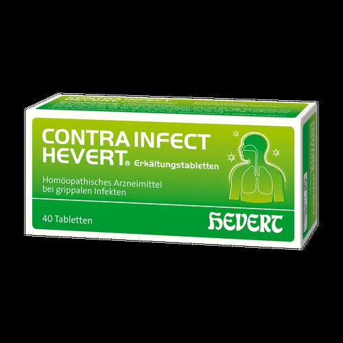 Verpackungsbild(Packshot) von CONTRAINFECT Hevert Erkältungstabletten