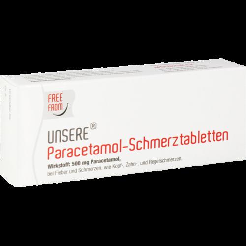 Verpackungsbild(Packshot) von UNSERE Paracetamol Schmerztabletten