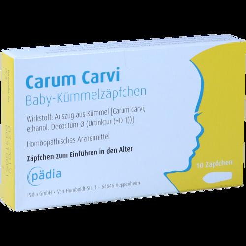 Verpackungsbild(Packshot) von CARUM CARVI Baby-Kümmelzäpfchen