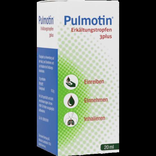 Verpackungsbild(Packshot) von PULMOTIN Erkältungstropfen 3plus