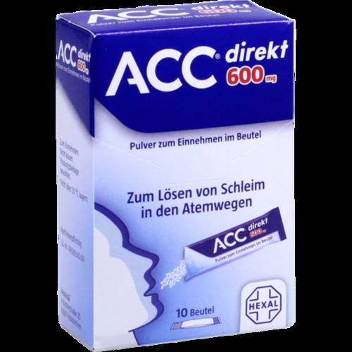 Verpackungsbild(Packshot) von ACC direkt 600 mg Pulver zum Einnehmen im Beutel