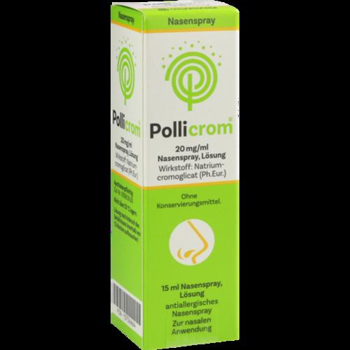 Verpackungsbild(Packshot) von POLLICROM 20 mg/ml Nasenspray Lösung
