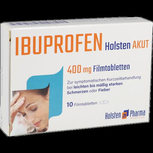 Verpackungsbild(Packshot) von IBUPROFEN Holsten akut 400 mg Filmtabletten