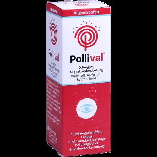 Verpackungsbild(Packshot) von POLLIVAL 0,5 mg/ml Augentropfen Lösung