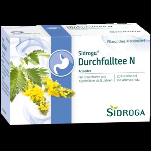 Verpackungsbild(Packshot) von SIDROGA Durchfalltee N Filterbeutel
