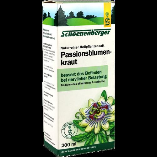 Verpackungsbild(Packshot) von PASSIONSBLUMENKRAUT naturreiner Heilpflanzensaft