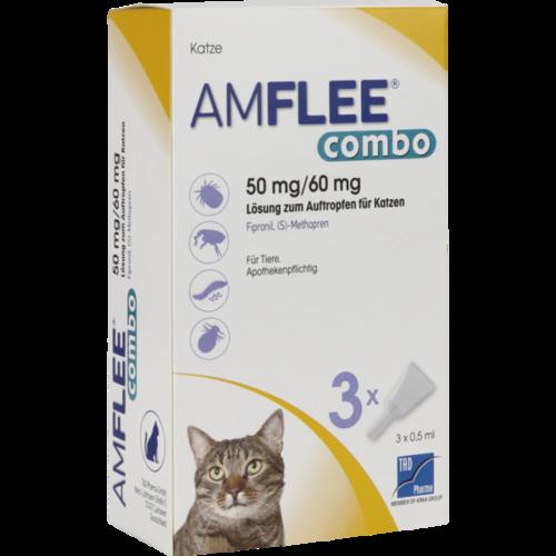 Verpackungsbild(Packshot) von AMFLEE combo 50/60mg Lsg.z.Auftropfen f.Katzen