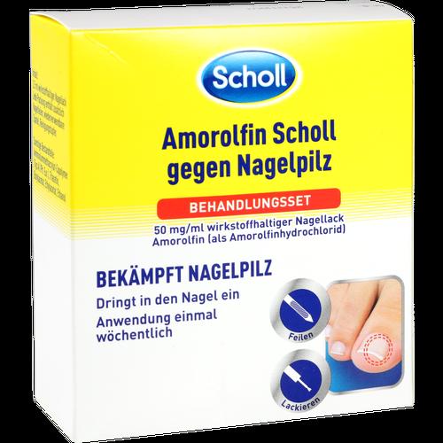 Verpackungsbild(Packshot) von AMOROLFIN Scholl gegen Nagelpilz Behandlungsset