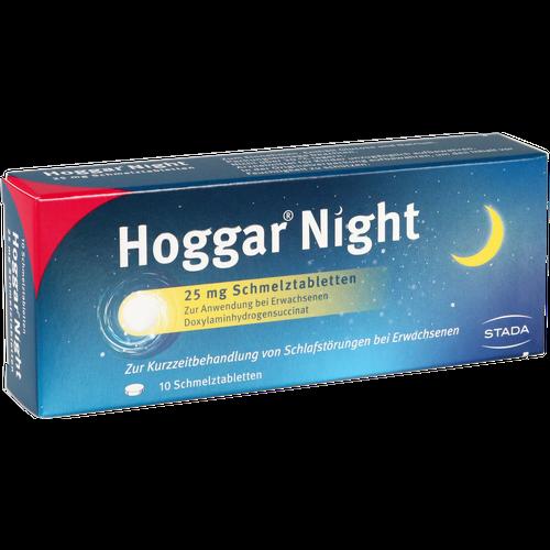 Verpackungsbild(Packshot) von HOGGAR Night 25 mg Schmelztabletten