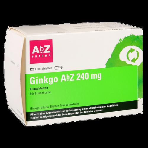 Verpackungsbild(Packshot) von GINKGO AbZ 240 mg Filmtabletten