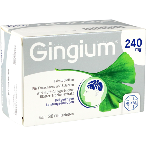 Verpackungsbild(Packshot) von GINGIUM 240 mg Filmtabletten