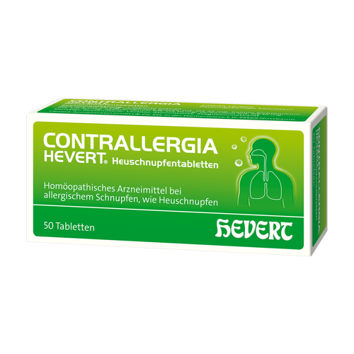 Verpackungsbild(Packshot) von CONTRALLERGIA Hevert Heuschnupfentabletten