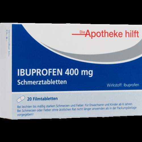 Verpackungsbild(Packshot) von IBUPROFEN 400 mg Die Apotheke hilft Filmtabletten