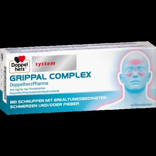 Verpackungsbild(Packshot) von GRIPPAL COMPLEX DoppelherzPharma 200 mg/30 mg FTA