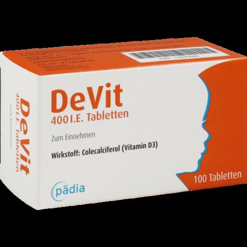Verpackungsbild(Packshot) von DEVIT 400 I.E. Tabletten