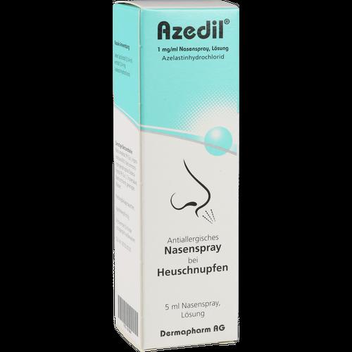 Verpackungsbild(Packshot) von AZEDIL 1 mg/ml Nasenspray Lösung