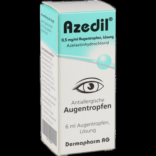 Verpackungsbild(Packshot) von AZEDIL 0,5 mg/ml Augentropfen Lösung