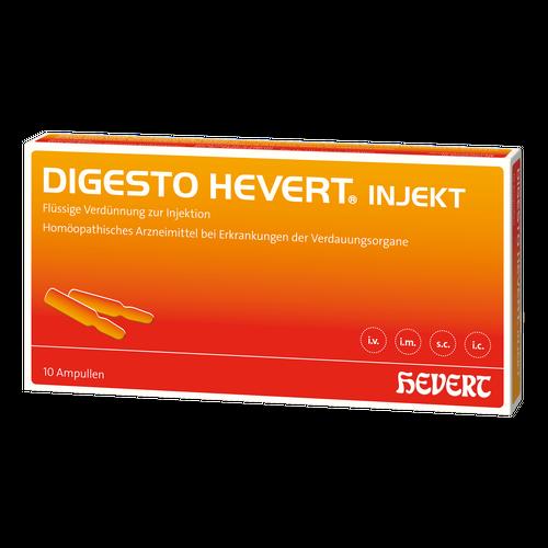 Verpackungsbild(Packshot) von DIGESTO Hevert injekt Ampullen