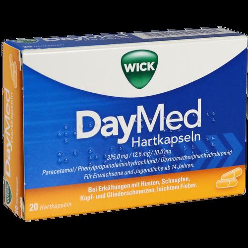 Verpackungsbild(Packshot) von WICK DayMed Hartkapseln