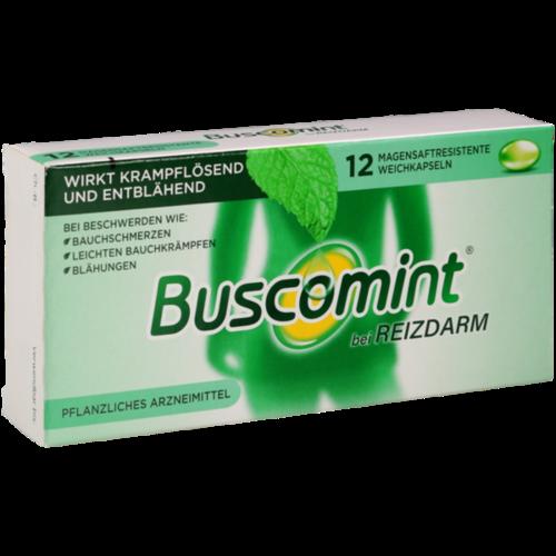 Verpackungsbild(Packshot) von BUSCOMINT bei Reizdarm 0,2 ml magensaftr.Weichkps.