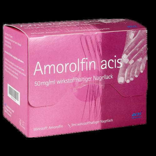 Verpackungsbild(Packshot) von AMOROLFIN acis 50 mg/ml wirkstoffhalt.Nagellack