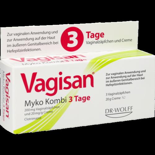 Verpackungsbild(Packshot) von VAGISAN Myko Kombi 3-Tage