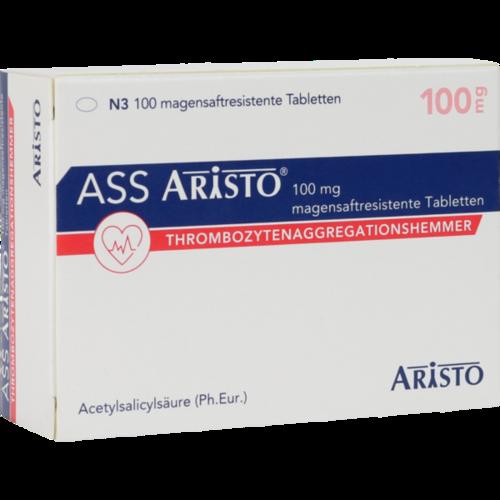 Verpackungsbild(Packshot) von ASS Aristo 100 mg magensaftresistente Tabletten