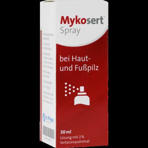 Verpackungsbild(Packshot) von MYKOSERT Spray bei Haut- und Fußpilz