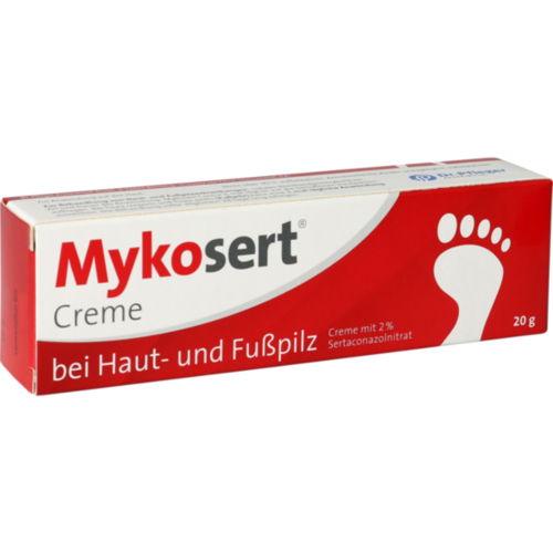 Verpackungsbild(Packshot) von MYKOSERT Creme bei Haut- und Fußpilz