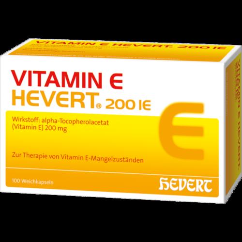 Verpackungsbild(Packshot) von VITAMIN E HEVERT 200 I.E. Weichkapseln