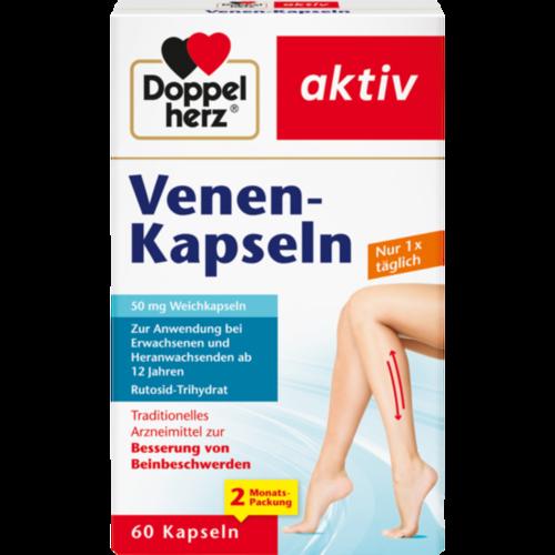 Verpackungsbild(Packshot) von DOPPELHERZ Venen-Kapseln