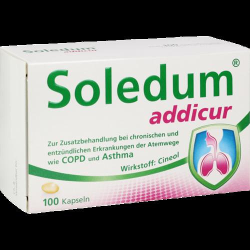 Verpackungsbild(Packshot) von SOLEDUM addicur 200 mg magensaftres.Weichkapseln