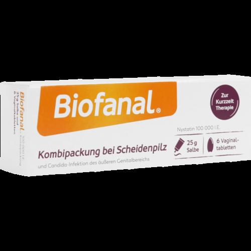 Verpackungsbild(Packshot) von BIOFANAL Kombipackung b.Scheidenpilz Vagtab.+Salbe