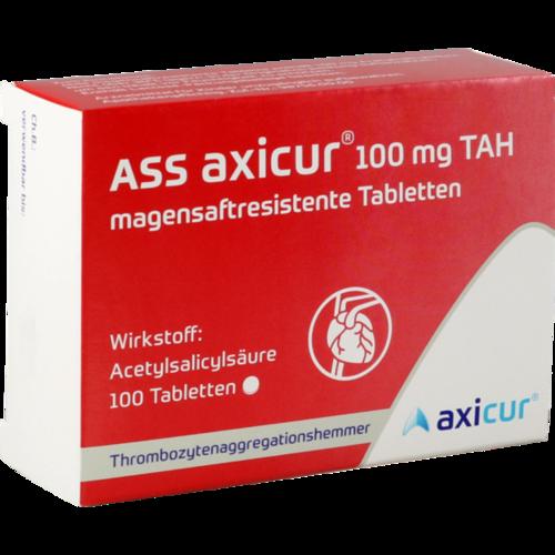 Verpackungsbild(Packshot) von ASS axicur 100 mg TAH magensaftres.Tabletten