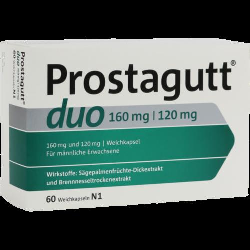 Verpackungsbild(Packshot) von PROSTAGUTT duo 160 mg/120 mg Weichkapseln