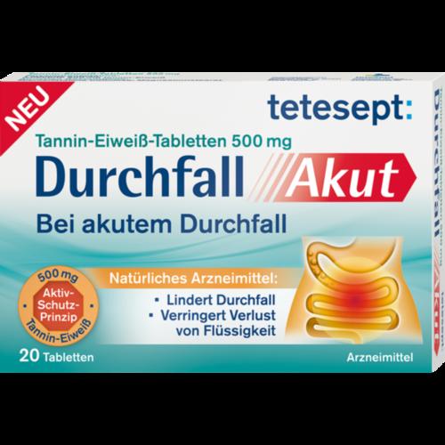 Verpackungsbild(Packshot) von TETESEPT Durchfall Akut Tabletten