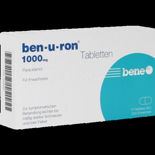 Verpackungsbild(Packshot) von BEN-U-RON 1.000 mg Tabletten